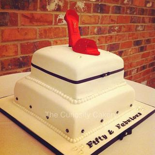 Fab & Fifty - Cake by The Curiosity Cakery