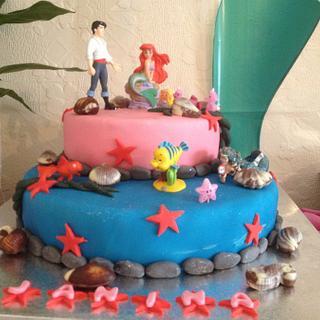 Little Mermaid Birthday Cake! - Cake by Cakesatibapa