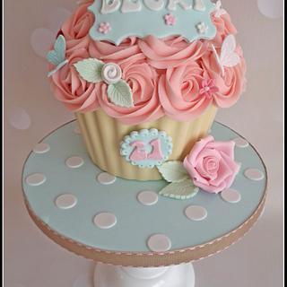 Cath Kidston Giant Cupcake - Cake by Dollybird Bakes