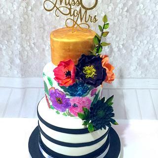 Floral Bridal Shower Cake💐
