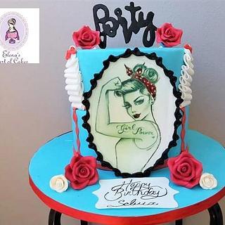 Pin up girl cake - Cake by elenasartofcakes