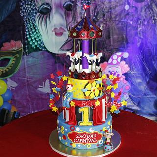Circus / Carnival themed cake