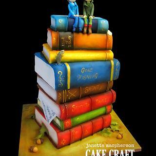 Anniversary books cake - Cake by Janette MacPherson Cake Craft