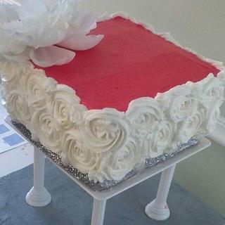 Rosette three Tier square Cake