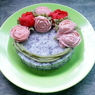 flower rice cake - Cake by fantasticake by mihyun