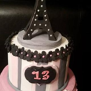 Paris themed party - Cake by JACKIE