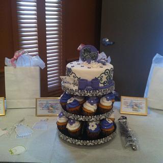 Baby Shower Cake.Cupcake Combo