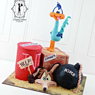 Cake Con International Collaboration Looney Tunes Road Runner & Wile E Coyote - Cake by PrimaCristina