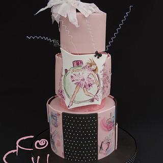 The perfume - painted cake