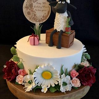 Shaun The Sheep 50th Birthday Cake