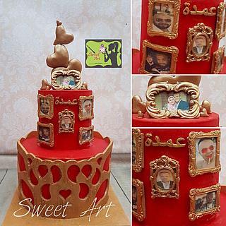 red and bronze anniversary cake - Cake by Sweet Art