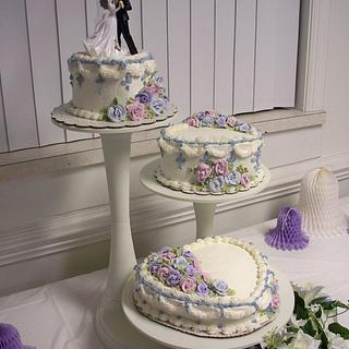 My First Wedding cake - Cake by Teresa Hastings