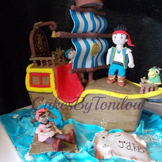 Jake and the neverland Pirates ship cake - Cake by CakesByTonilou