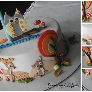 Autumn in the forest - Cake by MartaMc