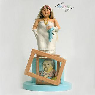 Botero Challenge / Bride and Self Portrait - Cake by Gulcin Tekkas