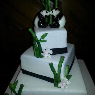 Bamboo Wedding Cake