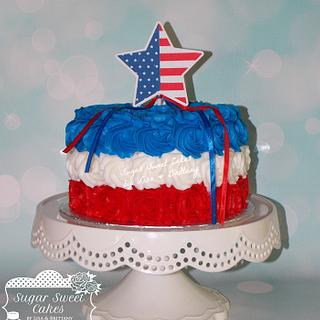 4th of July Roses - Cake by Sugar Sweet Cakes