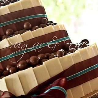 Chocolate Shards Wedding Cake - Cake by Cara Maartens