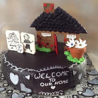Chris & Megan's Housewarming Cake