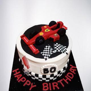 Race car  - Cake by littlecakespace