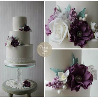 French Lilac Wedding Cake - Cake by Fancie Buns