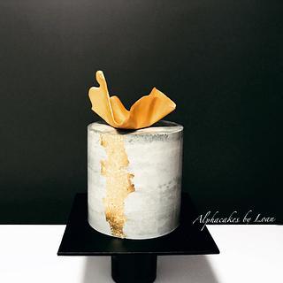 Light concrete cake