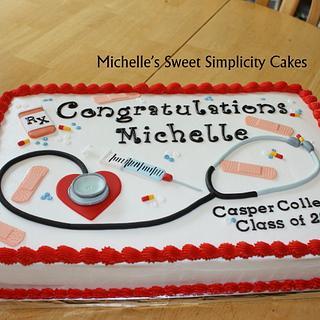 Nursing School Graduation Cake - Cake by Michelle