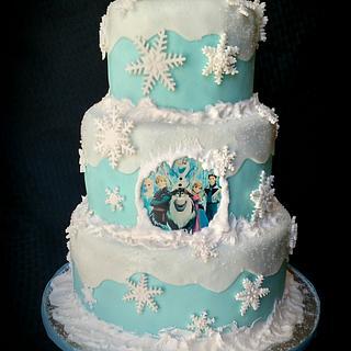 Elegant Frozen Cake