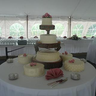 Outdoor Wedding Cake - Cake by Marcia Hardaker