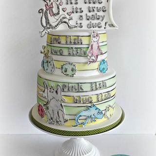dr seuss gender reveal cake