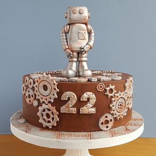 Steampunk cake for engineer