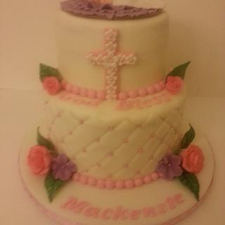 Mackenzie's Christening cake