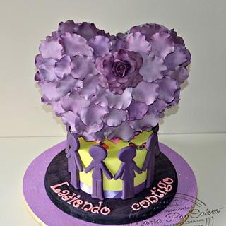 Purple day cakes