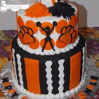 PPHS Cheerleader - Cake by Sugar Sweet Cakes