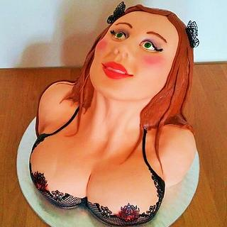 Woman sculpted cake