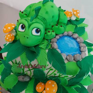 Dinosaur Cake <3 - Cake by Archicaketure_Italia
