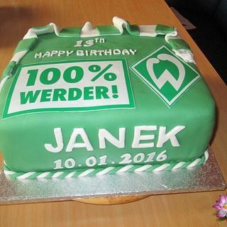 Werder Bremen Football Team Cake