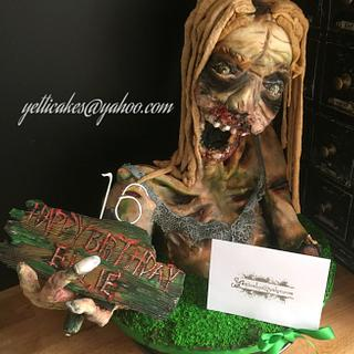 Zombie Sponge cake modelling chocolate