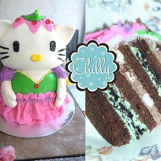 3d hello kitty mouse cake