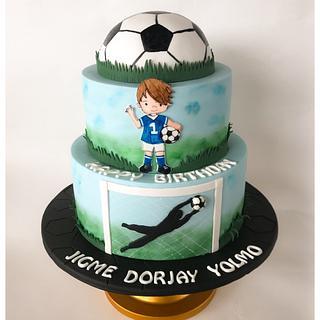 Football ⚽️ theme cake