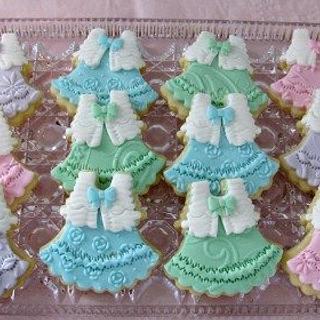 Baby Dress Cookies - Cake by Cheryl