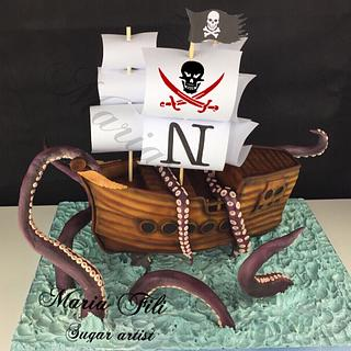 Kraken Birthday Cake