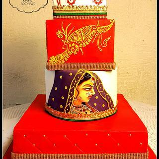Glittering Indian bride - Cake by Maaria