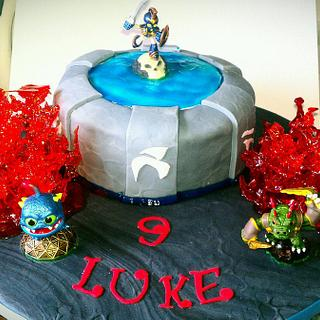 skylander chocolate fudge cake with sugar lava
