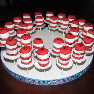 Cat in the Hat Cake Pops