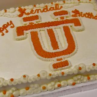 UT buttercream cake