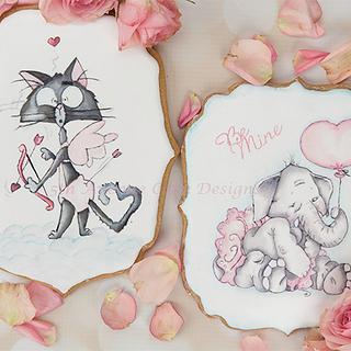 Sweet Valentines Cookies Cards 💝🐘🏹