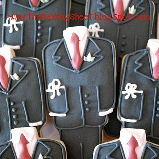 Communion Suit Cookies!