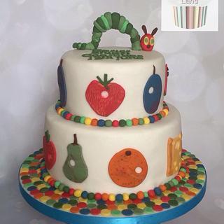 Hungry Caterpillar Christening Cake