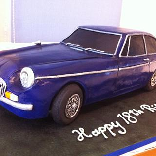 "MGB GT CAR 24"" long - Cake by Glen Beardsmore"